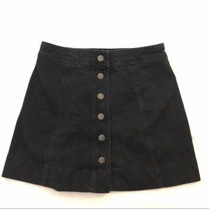 Madewell black denim A-line skirt sz. 25???